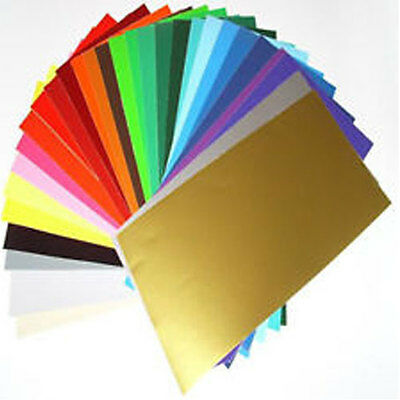 20 x A4 Sheets Matt Self Adhesive Vinyl Any Colour Sign Making Vinyl Craft Robo