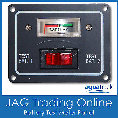 12V BATTERY CONDITION DUAL TEST METER/GAUGE SWITCH PANEL-Boat/Marine/Caravan/4x4