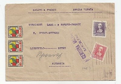 E219-Spain-Civil War Cover To Germany