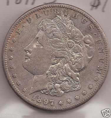 BU 1897-S Morgan  Silver Dollar