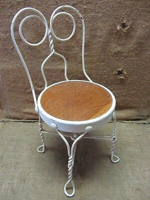 Vintage Childs Ice Cream Chair   Antique Old Stool Parlor Soda Fountain 7042
