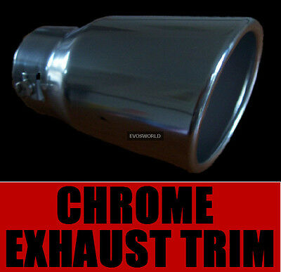 Chrome Exhaust Tailpipe Trim Tip End Muffler Finisher Ford Focus Hatchback St