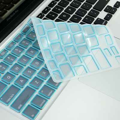 "New Arrival! AQUA Silicone Keyboard Cover Skin for All Macbook 13"" 15"" 17"""