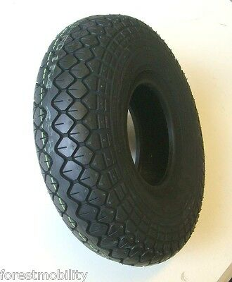 330x100 400x5 Black Block Tread Mobility Scooter Tyre 4.00-5 Diamond pattern