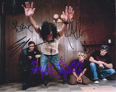 THE USED BAND SIGNED AUTOGRAPHED 10X8 PP REPRO PHOTO PRINT Bert Quinn Jeph
