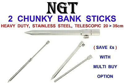 Heavy Duty CHUNKY 304 GRADE Stainless Steel NGT Bankstick 20-35 CM Bank Stick