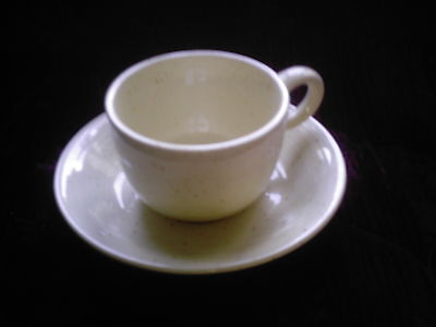 Franciscan Country Craft Almond Cream Cups and Saucers (Set of 2) - EXCELLENT!
