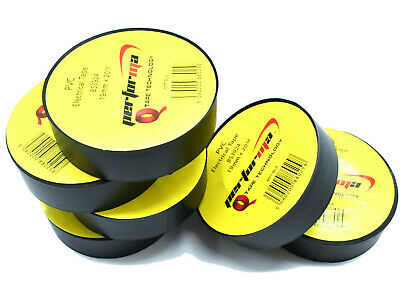 5, BLACK ELECTRICAL PVC INSULATION ELECTRIC TAPE 19mm x 20m  FLAME RETARDANT