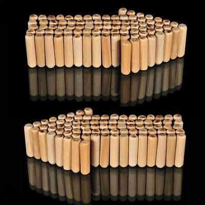 500, 5mm x 25mm FLUTED HARDWOOD WOODEN DOWEL PINS FOR WOODEN CABINET MAKING *