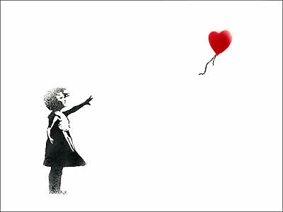 New Poster Print - Banksy: Balloon Girl *DISCOUNTED OFFERS*  A3 / A4