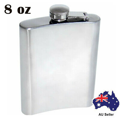 Brand New Top Quality 8oz Stainless Steel Hip Flask Top Sold Item Back