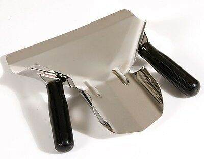 Stainless Steel Chip Bagger, Scoop Fries Bagger,  Black Dual Handle Fast Food