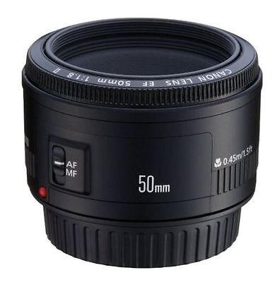 Canon EF 50mm 1.8 f/1.8 ll Standard Autofocus Lens for Canon EOS, BRAND NEW