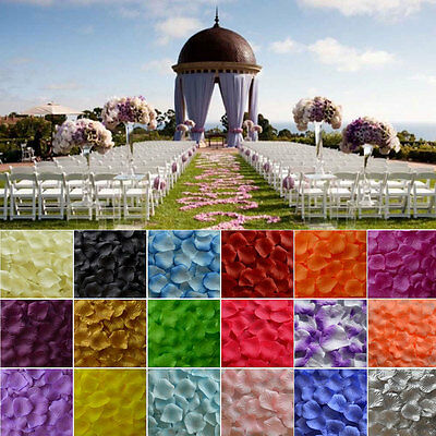 100 ~ 1000 Flowergirl Basket Rose Artificial Silk Petals Wedding Table Scatters