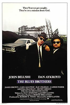 Classic Movie Poster Print: The Blues Brothers *DISCOUNTED OFFERS*  A3 / A4