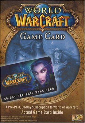 World Of Warcraft 60 Day  Prepaid Gamecard *new*