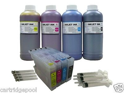Refillable ink cartridge for Brother LC75 MFC-J6510DW J6710DW J6910DW +4 Pint+S