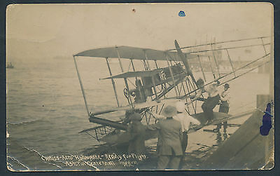 Astoria, Oregon Centennial Real Photo Aviation Card - Pioneer Flight Bp1190