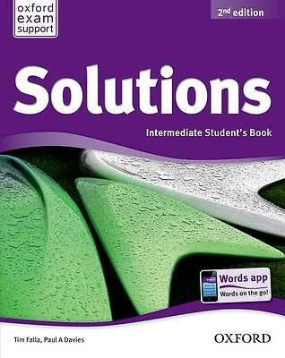 Oxford SOLUTIONS 2nd Edition Intermediate Student's Book | Falla Davies @NEW@