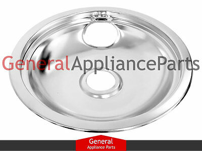 "GE General Electric Stove 8"" Chrome Drip Bowl PM32X113 WB32X10018 WB32X10034"