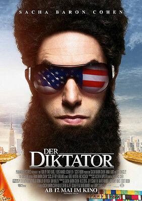 Brand New Movie Poster Print: The Dictator -  *DISCOUNTED OFFERS*  A3 / A4