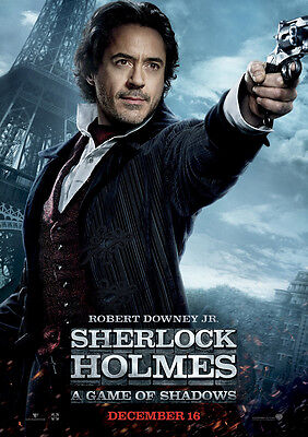 Brand New Movie Poster Print: Sherlock Holmes  *DISCOUNTED OFFERS* A3 / A4
