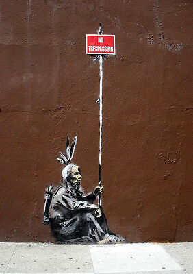 Poster Print: Banksy: No Trespassing **DISCOUNTED OFFERS**  A3 / A4