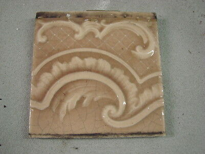 "ANTIQUE 2.125/"" X 2.125/"" AMBER SQUARE  GLAZED CAMBRIDGE TILE"