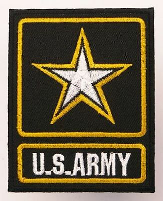 US ARMY Embroidered Military Star Logo Patch for Shirt/Jacket, Iron-On