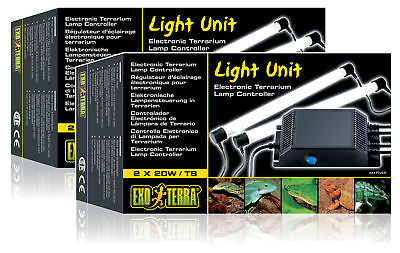 Exo Terra Electronic Twin Starter Light Unit 20W 30W 40W 4 Repti Glo Tube Light