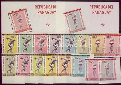 Paraguay stamp  Sport and Olympics set + block MNH 1962 WS104537
