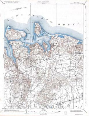 TOPOGRAPHICAL MAP - Oyster Bay New York, Conneticut Quad ... on