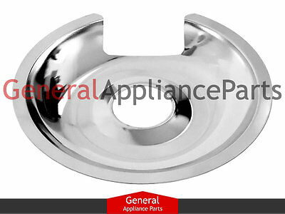 "GE General Electric Stove 8"" Chrome Drip Pan WB32X5036 WB32X5036R WB32X5036A"