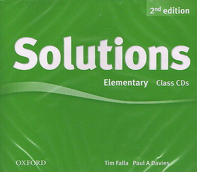 Oxford SOLUTIONS 2nd Edition Elementary Class CDs | Falla Davies @NEW SEALED@