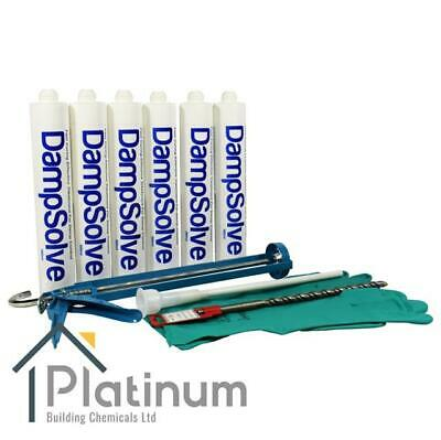 DAMPSOLVE DPC DAMP PROOF / PROOFING INJECTION CREAM KIT (6 x 380ML KIT)