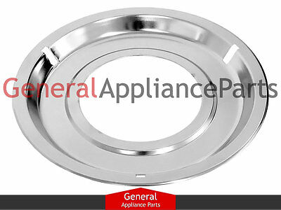 "GE General Electric Gas Stove 8 1/4"" Chrome Drip Pan WB32X86 WB32X0086 WB32X0084"