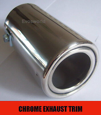 Chrome Exhaust Tailpipe Tip Trim End Muffler Finisher Mitsubishi Outlander