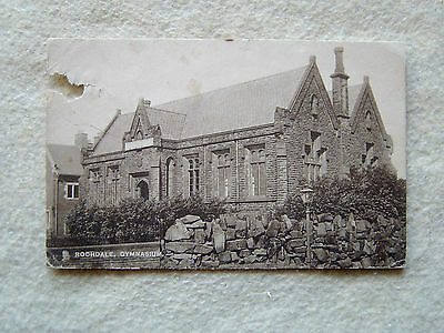 ROCHDALE, GYMNASIUM.-ENGLAND-UNITED KINGDOM-EARLY 1900'S POST CARD (torn corner)