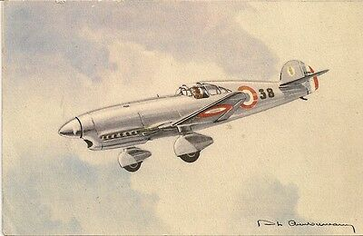 Carte Postale Illustrateur Aviation De Guerre Avion Caudron Cyclone