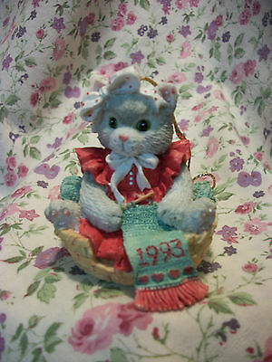 Calico Kittens Kitten Knitting In Basket Ornament 628220