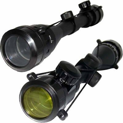 Tactical Rifle Scope 4-16x40 AOEG Red Green Crosshair Hunting Riflescope Black