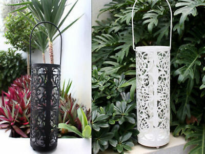 6 x Cylinder Cut Out Candle Lantern 32cm tall bulk wholesale lot reduced to clea