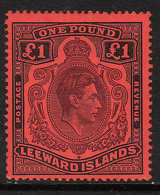 Leeward Is.1938-51 £1 Brown-Purple & Black Sg 114 Fine Mint.