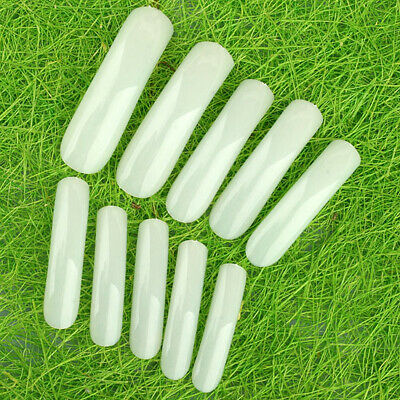 500Pcs Natural UV Acrylic FULL LONG French False Nail Tips 10 Size Art Gel DIY