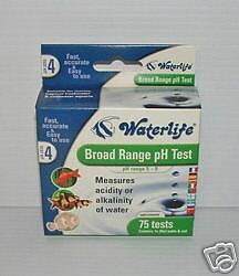 Waterlife Broad Range pH Test Kit. 75 tests. Aquarium