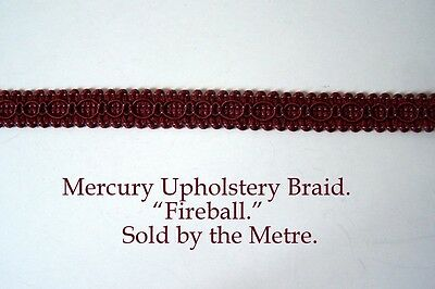"""sold by the Metre Copper colour Upholstery Braid /""""Mercury Meteor/"""" 15mm wide"""