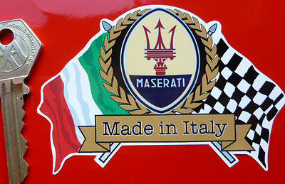 MASERATI Flags & Scroll classic sports car sticker etc Spyder Coupe 3200GT etc