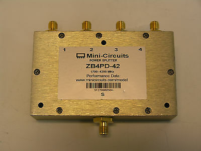 Mini-Circuits ZB4PD-42   4 Way Power splitter/Combiner.  1700 to 4200MHz.