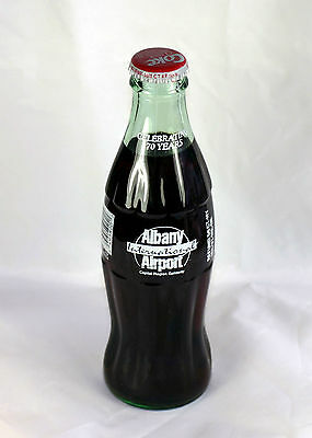 1998 Coke-Cola Albany International Airport 70 Years Full 8 Ounce Bottle