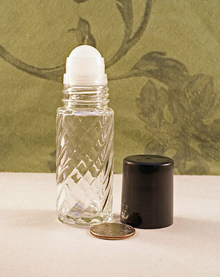 X-LARGE Roll-on APPLICATOR empty BOTTLE (1 Oz/ 30Ml -Size) Quality Glass NICE!